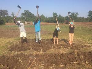 Helen and Arlo 'hit the ground' digging when they first arrive in Kenya